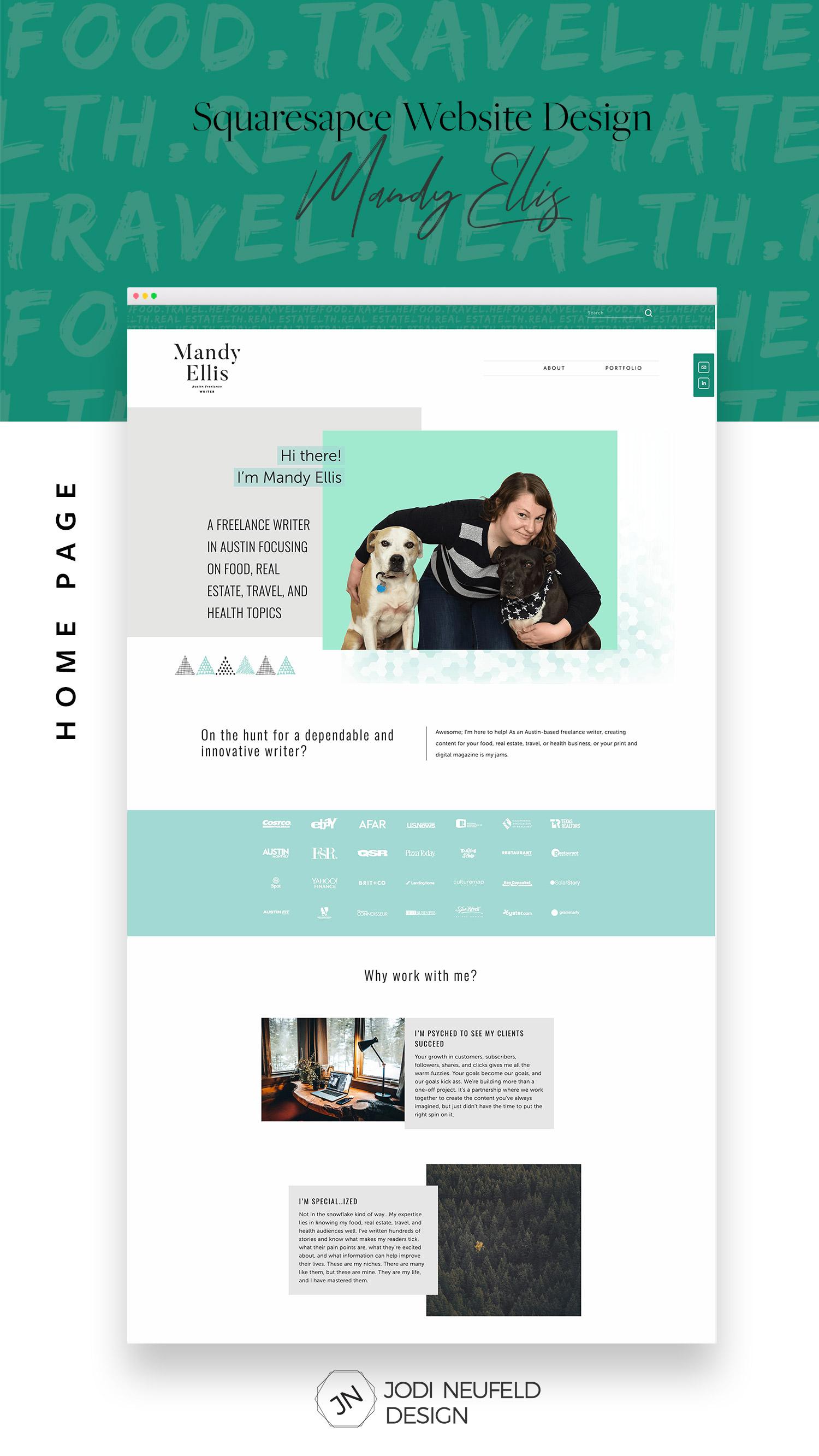 Mandy Ellis freelance writer | Home page | #squarespace web design by Jodi Neufeld Design