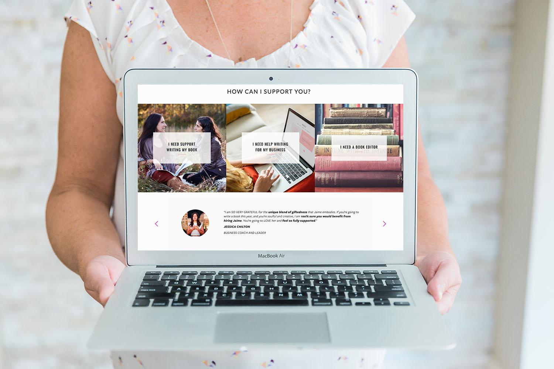 Thirtyeight visuals testimonial plugin | web design by Jodi Neufeld Design