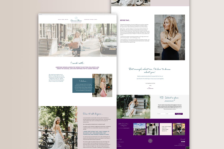 About page | Hanna Bier | #squarespace design by Jodi Neufeld Design