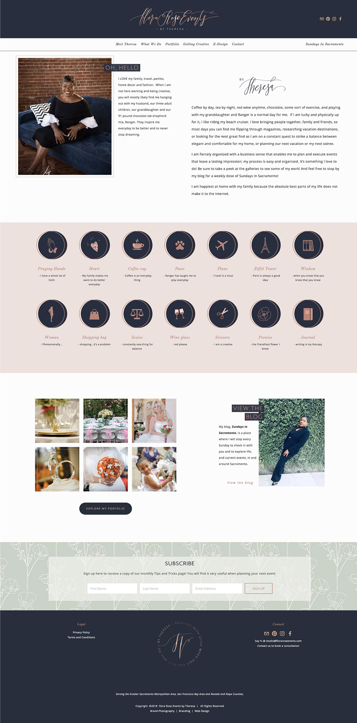 wedding event planner about page | #squarespace #webdesign by Jodi Neufeld Design