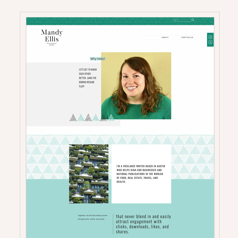 Mandy Ellis about page #squarespace #webdesign by Jodi Neufeld Design
