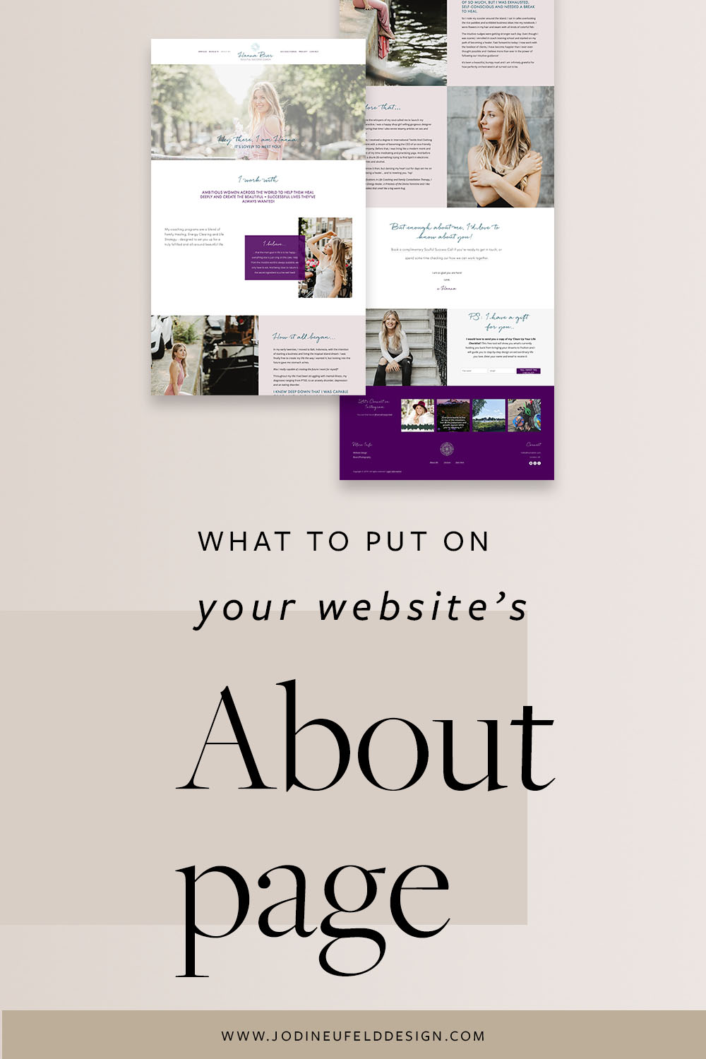 What to put on your websites About page | Jodi Neufeld Design