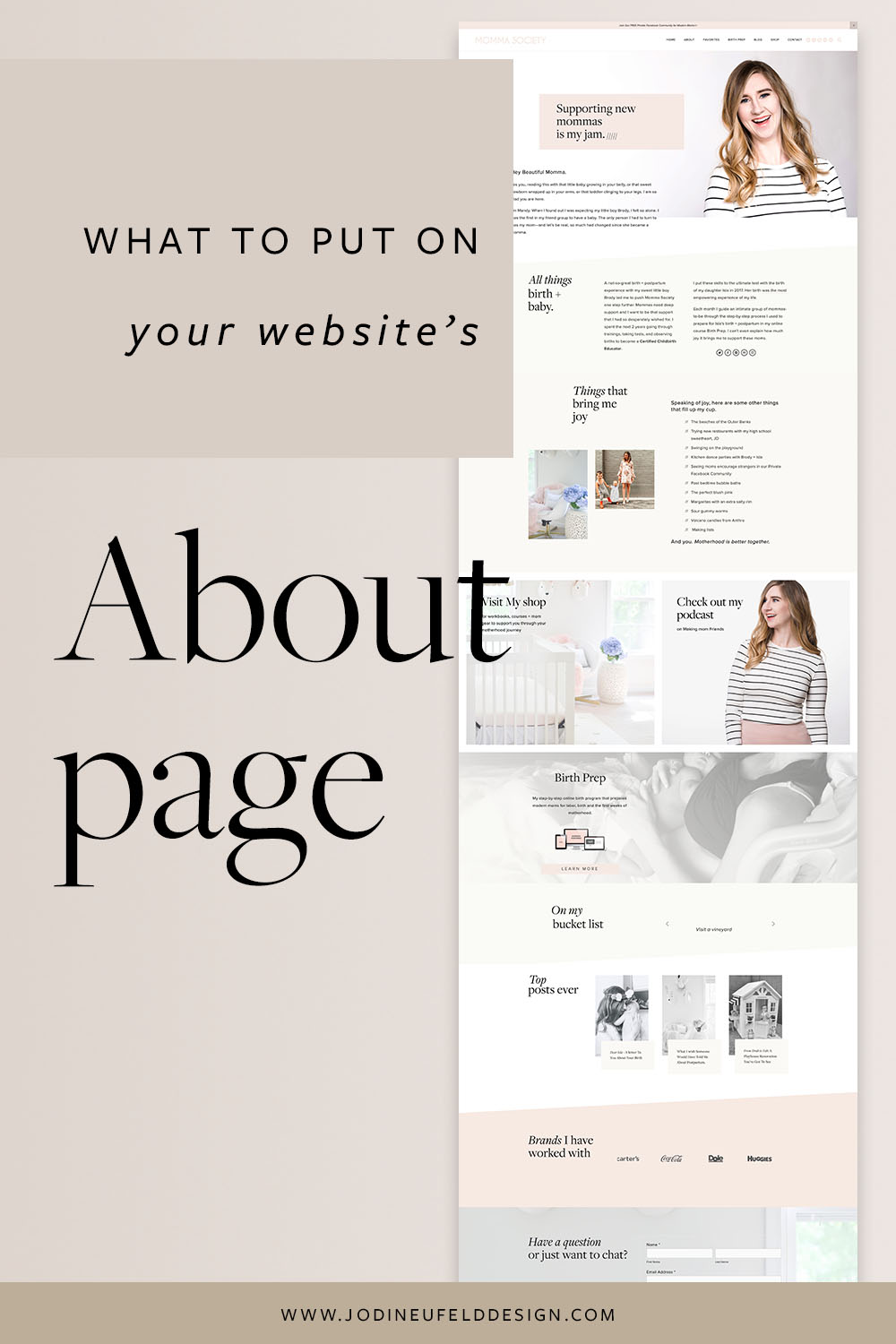 What to put on your about page | Jodi Neufeld Design