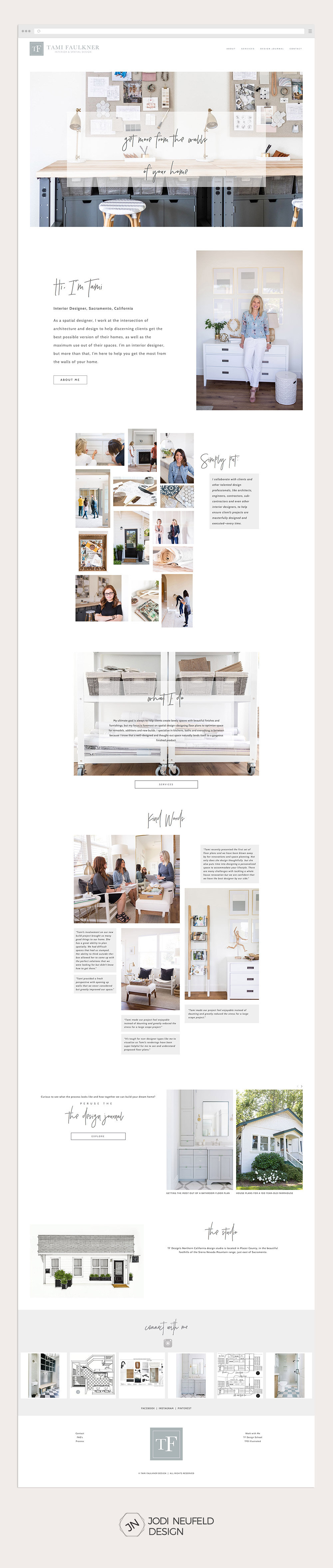 Tami Faulkner interior design website - Home page | Squarespace web design by Jodi Neufeld Design #squarespace #webdesign #interiordesign