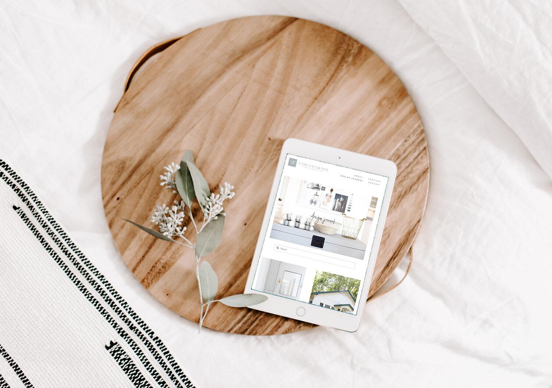 #squarespace website design for an interior design by Jodi Neufeld Design