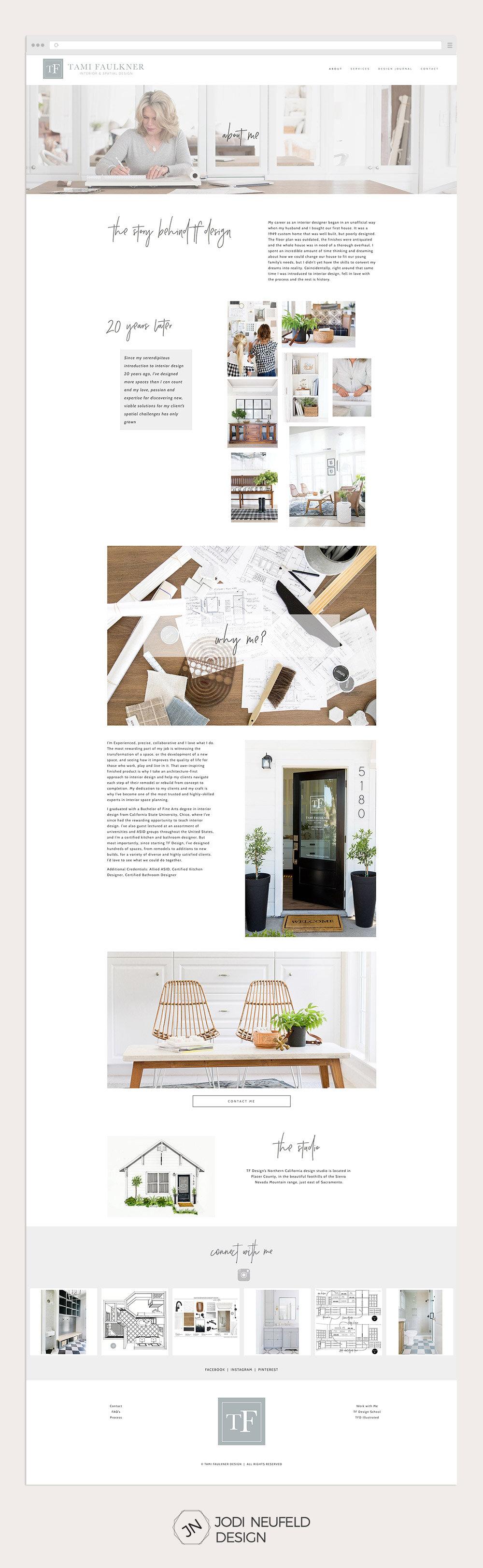 Tami Faulkner interior designer About page | #webdesign by Jodi Neufeld Design #interiordesign #squarespace