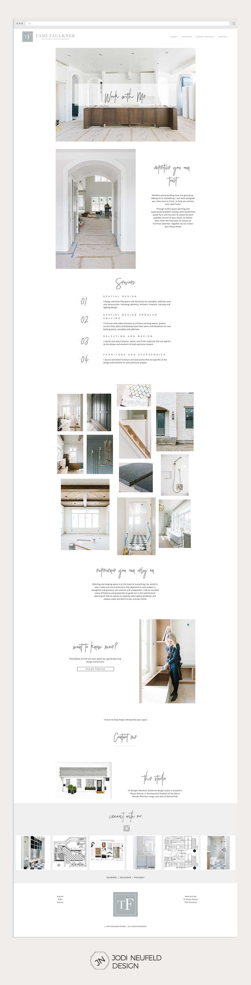 Work with me page for an interior designe#squarespace website design for an interior design by Jodi Neufeld Designr | #squarespace web design by Jodi Neufeld Design