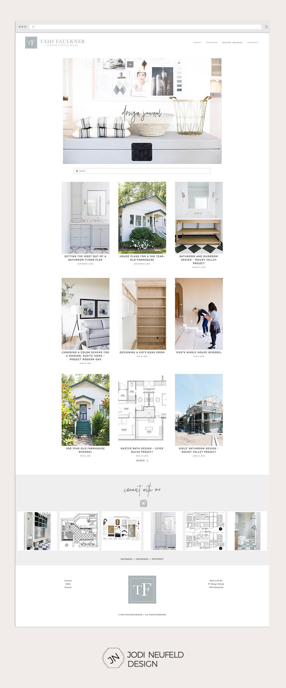 Squarespace webdesign | Interior Designer blog page by Jodi Neufeld Design #squarespace #webdesign #blog