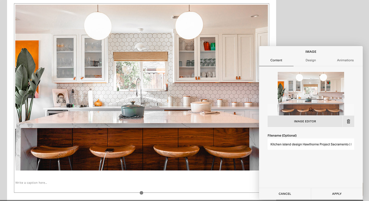 How to change the file name on your Squarespace image when uploading