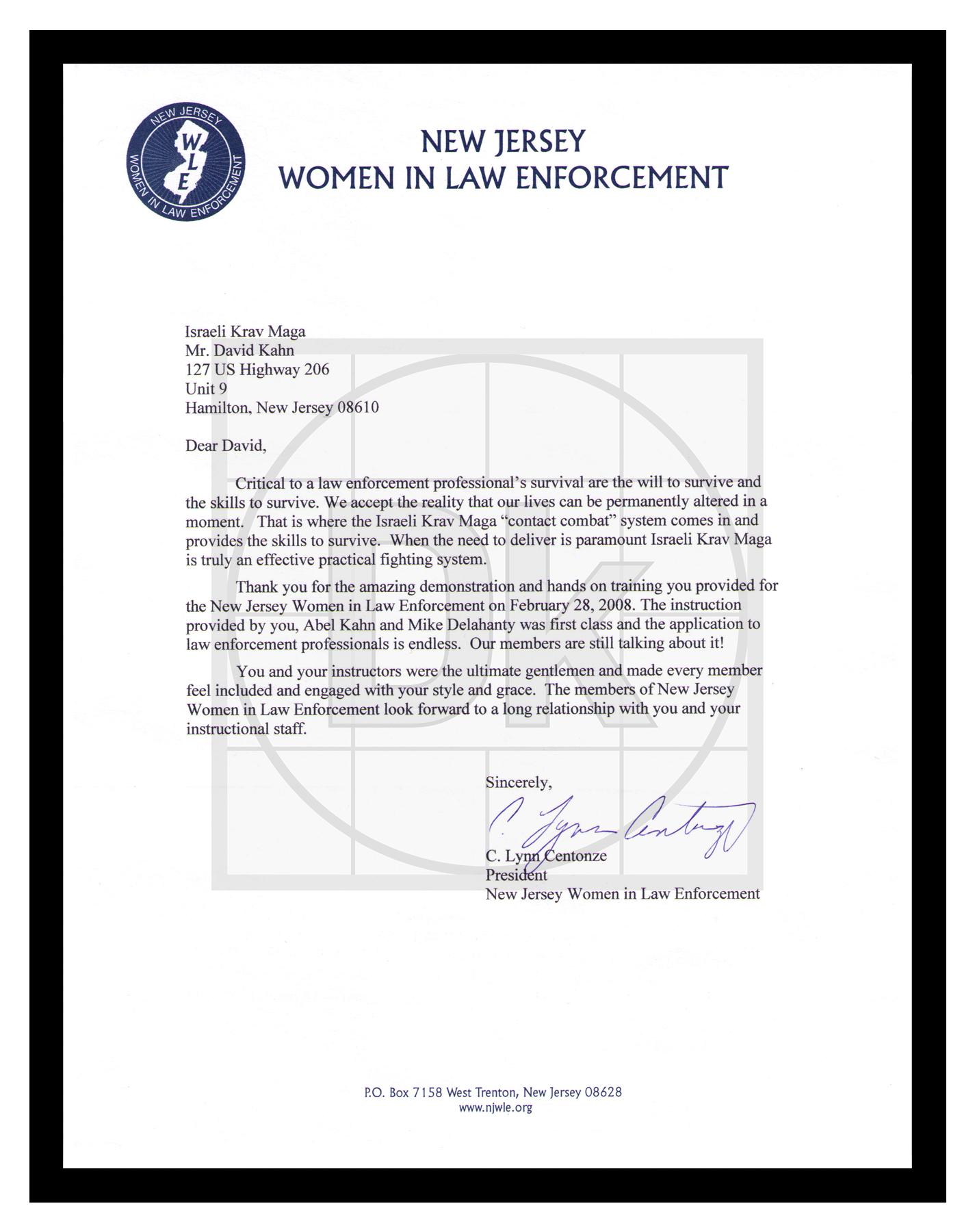 NEW JERSEY WOMEN IN LAW ENFORCEMENT