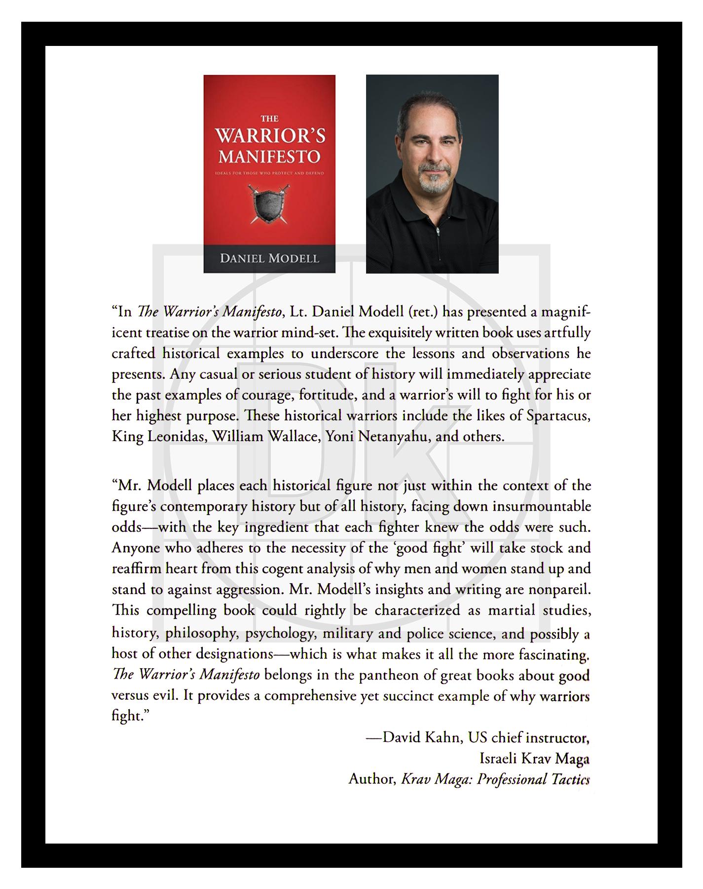 "David Kahn on ""The Warriors Manifesto"" – Lt. Daniel Modell"