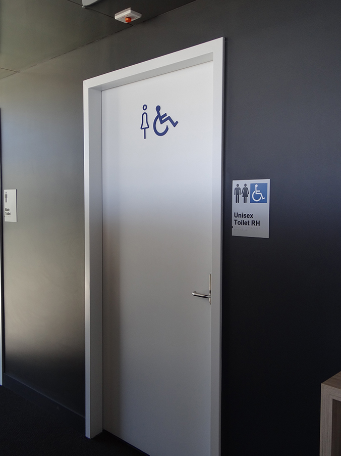Toilet Icons and Brialle Signage