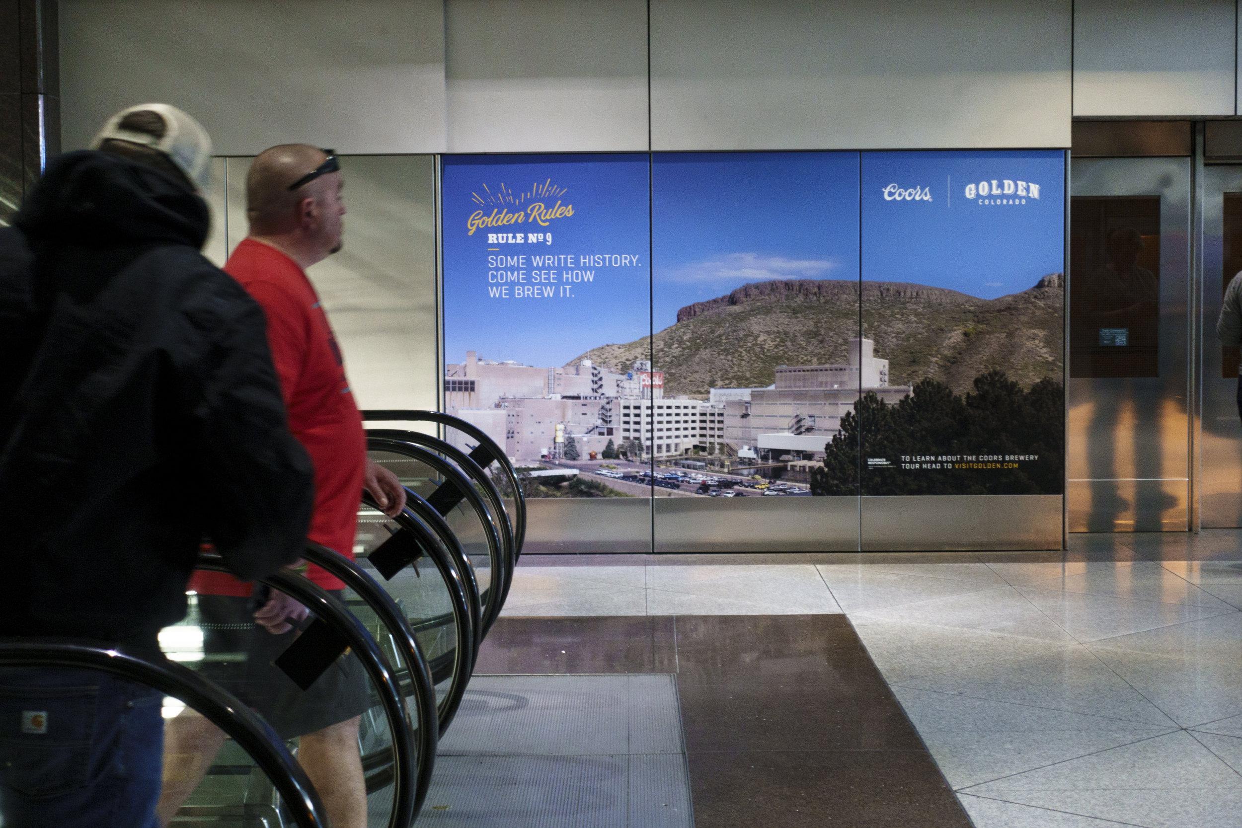 Denver International Airport: C-Train Banner