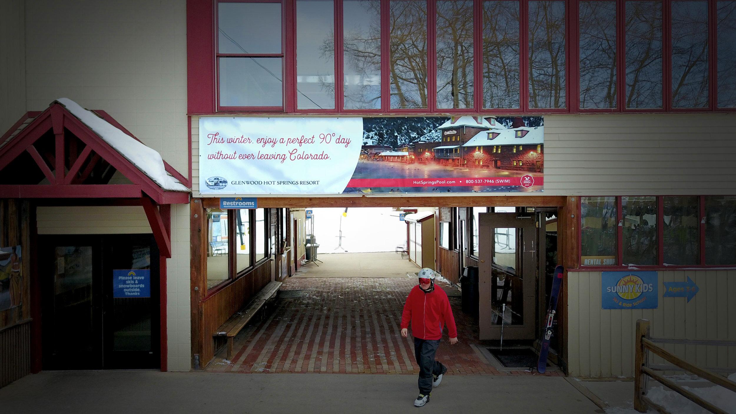 Banner at Sunlight Ski Resort