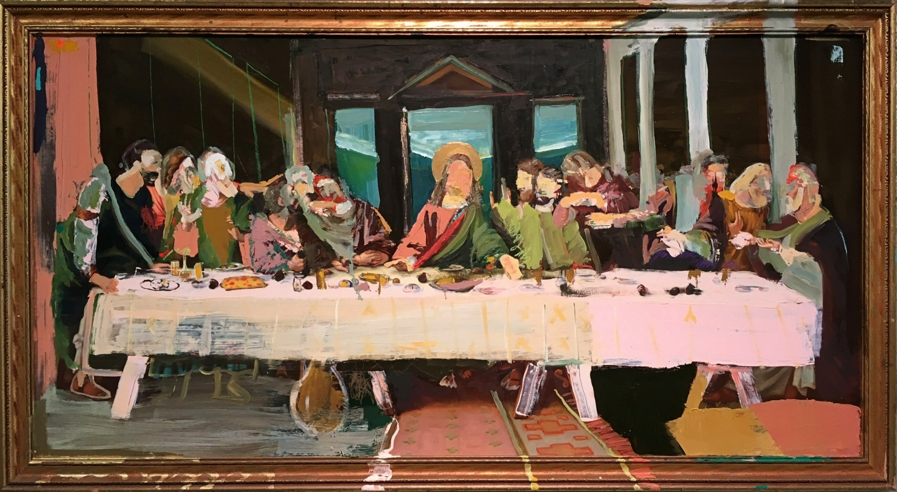 My Reproduction of the Last Supper Atop Someone Else's