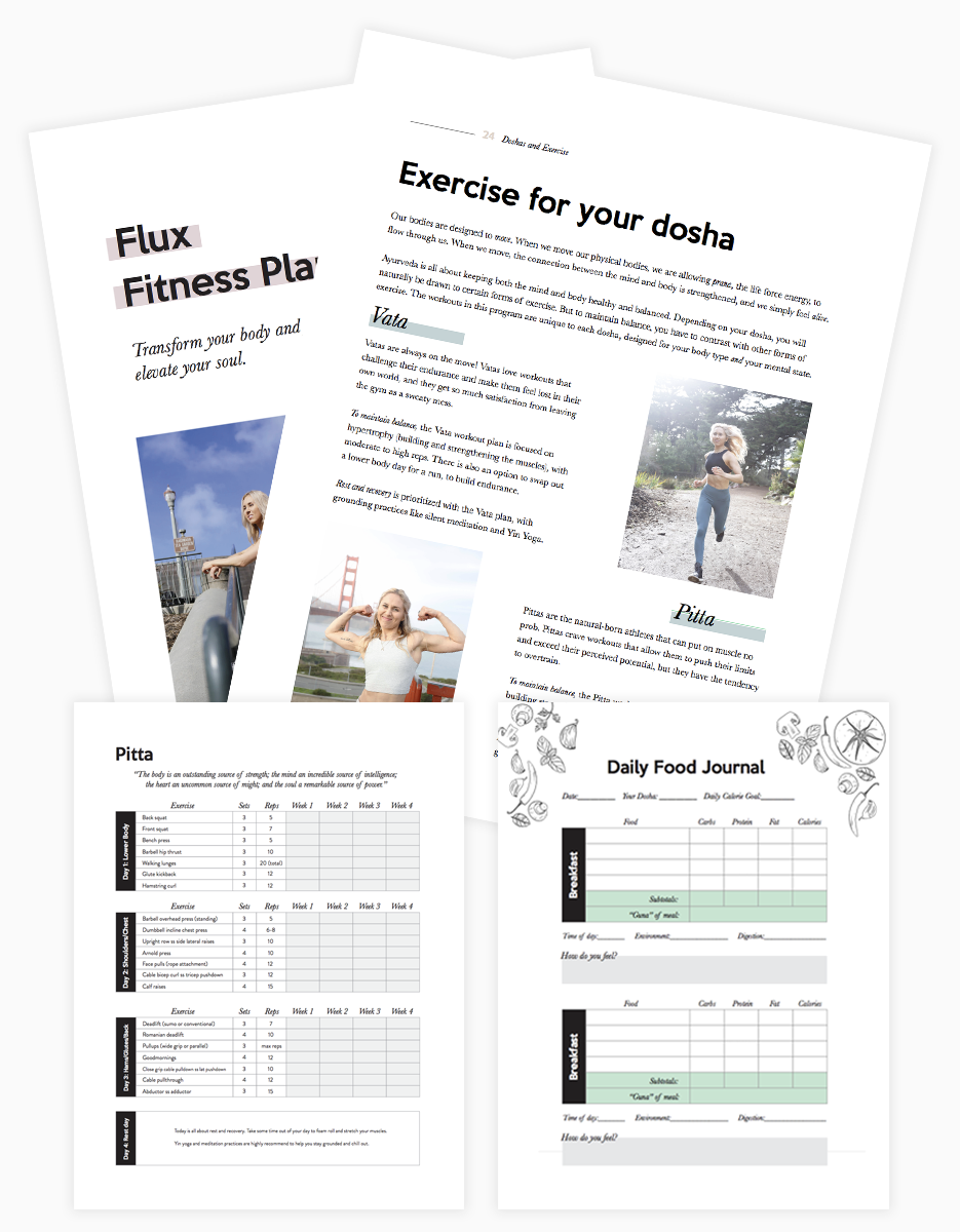 Flux Fitness Plan - Sign up now for the Flux Fitness Plan, a free 4-week fitness program that takes a holistic approach to fitness, infusing spirituality into exercise and nutrition.