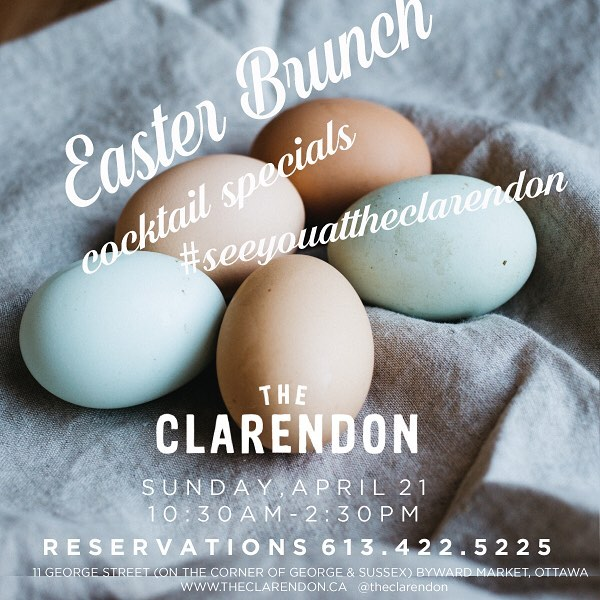 Join us for a delicious Easter Brunch with cocktail specials all day! The most amazing pancakes with chocolate Cadbury cream eggs. Comfort food at its greatest. #seeyouattheclarendon #bywardmarketbrunchspots #bestbrunchottawa #cadburycreameggs #marketneighbourhoodhotspot