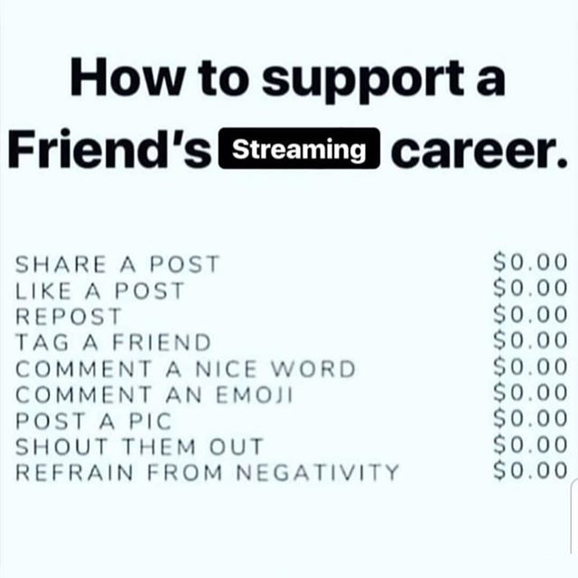 There are so many ways to help a community grow that mean so much yet cost so little... . . . #streamer #gamer #gamers
