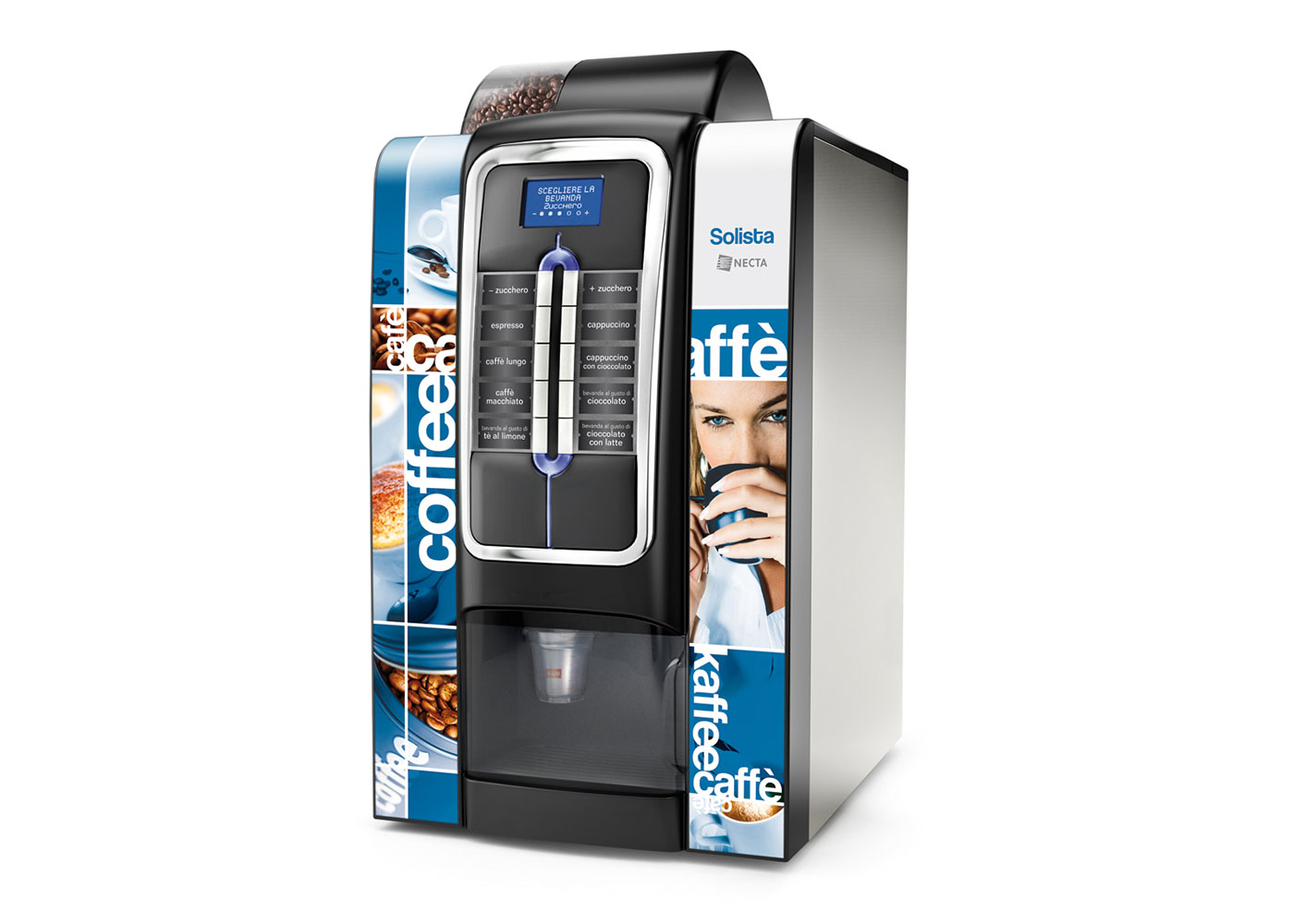 FreshUp, coffee machine, table top, hot drinks, beverages, fast, convenient, smart