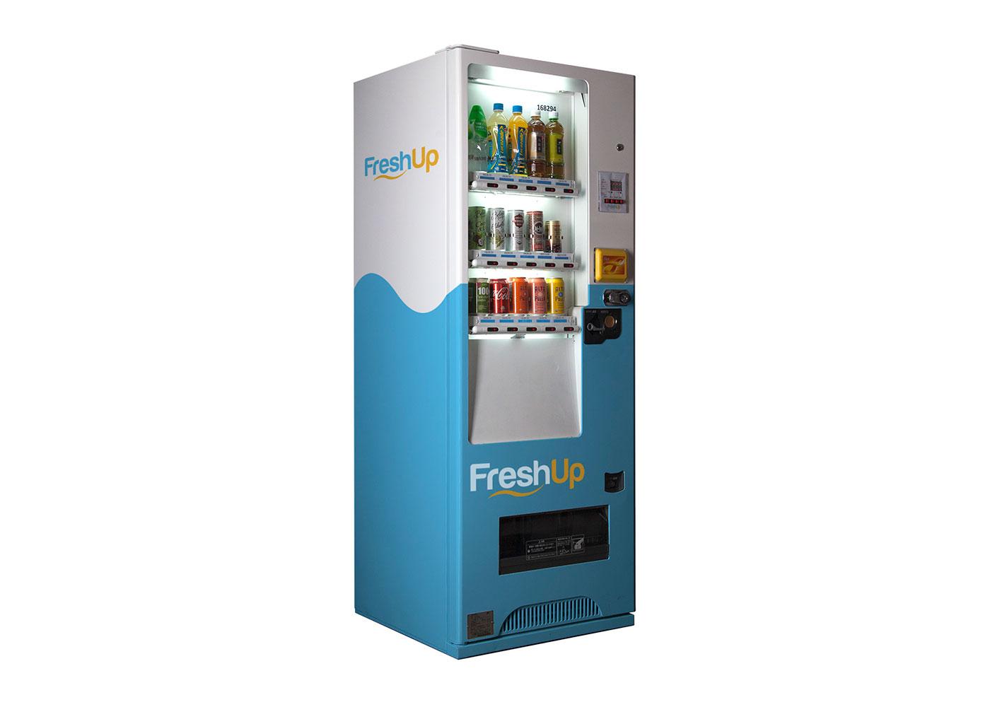 FreshUp, drinks, vending machine, beverages, fast, convenient, smart