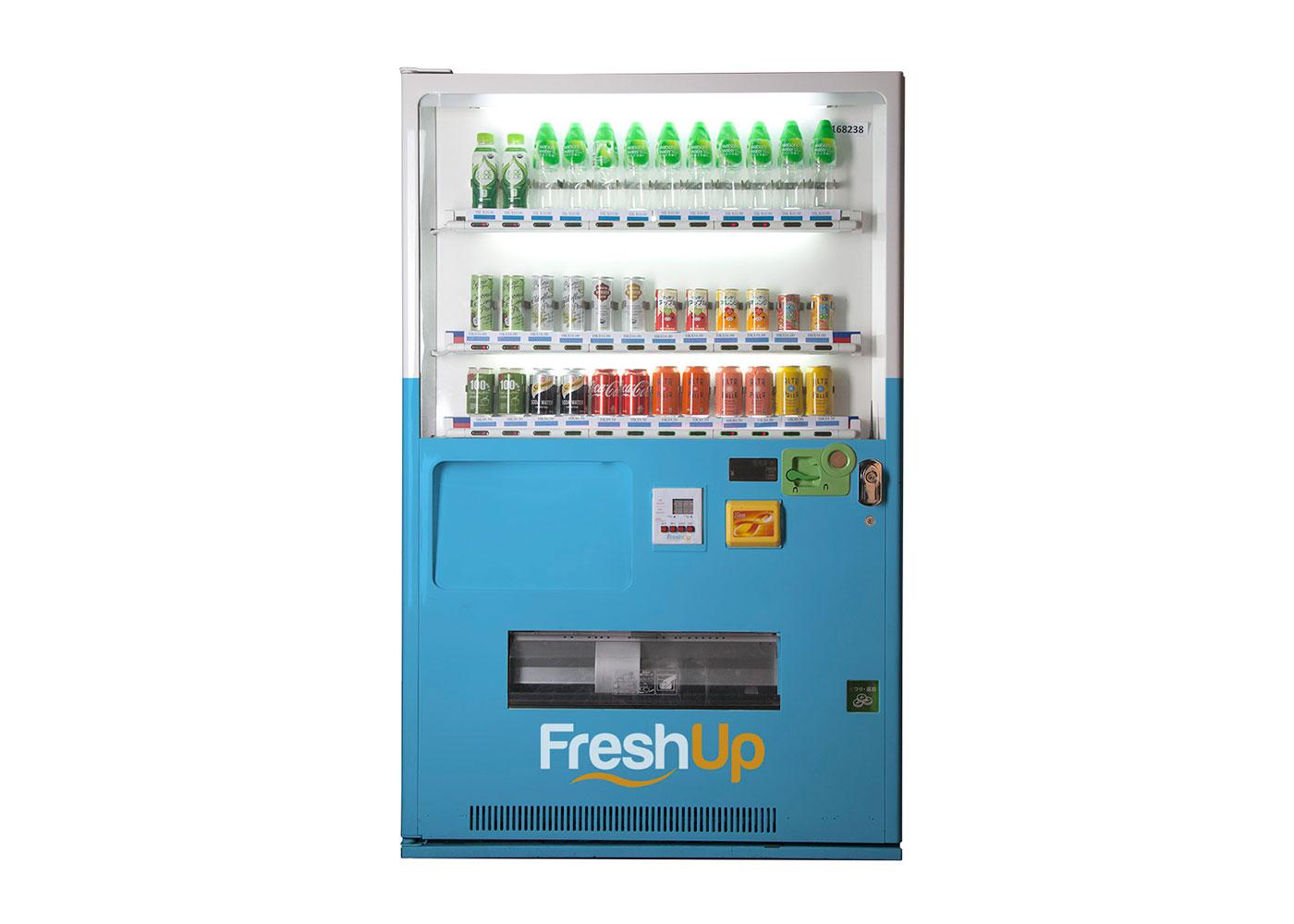 FreshUp, drinks, vending machine hong kong, beverages, fast, convenient, smart vending machine hong kong, freshup vending machine