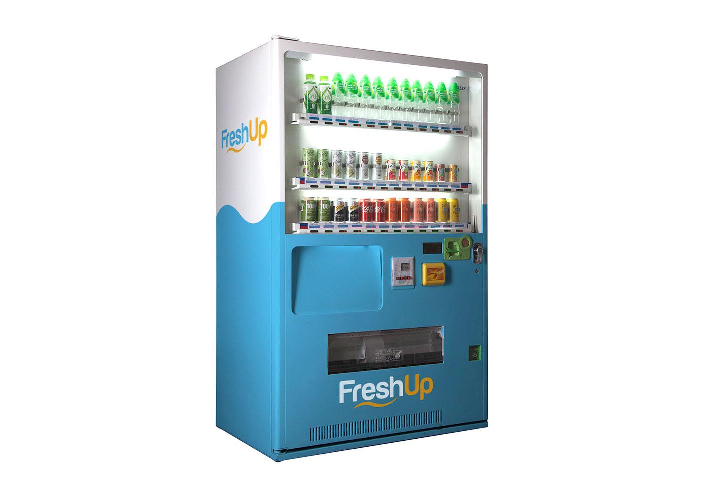 FreshUp, drinks, vending machine hong kong, beverages, fast, convenient, smart vending machine hong kong, freshup vending machine, 36sku vending