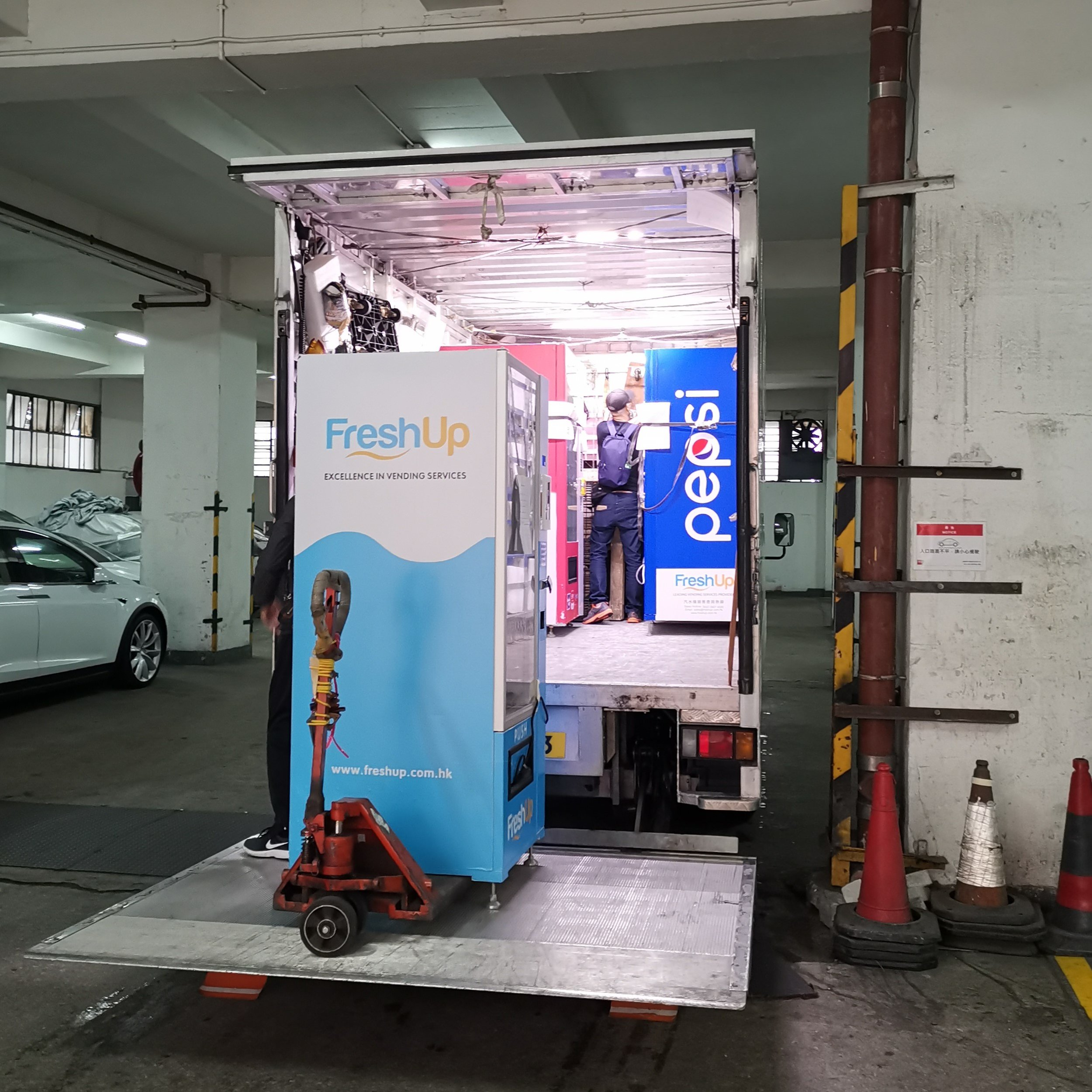 FreshUp Vending Machine Delivery Truck Hong Kong.jpg