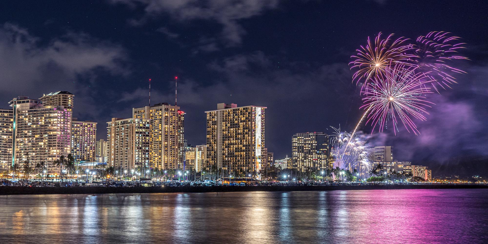 Hilton Hawaiian Village Friday night fireworks.