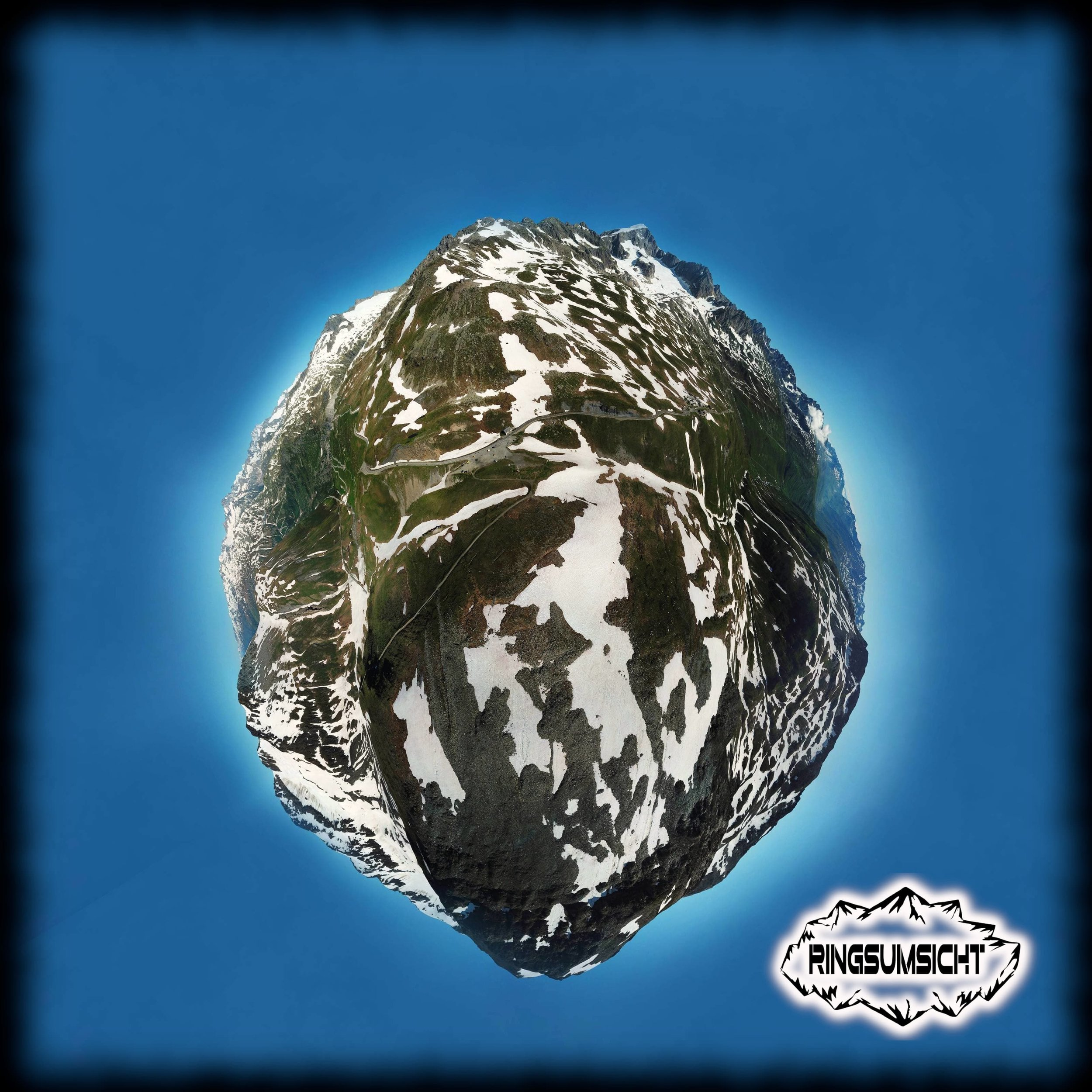 Furkapass tiny planet 360° Bild
