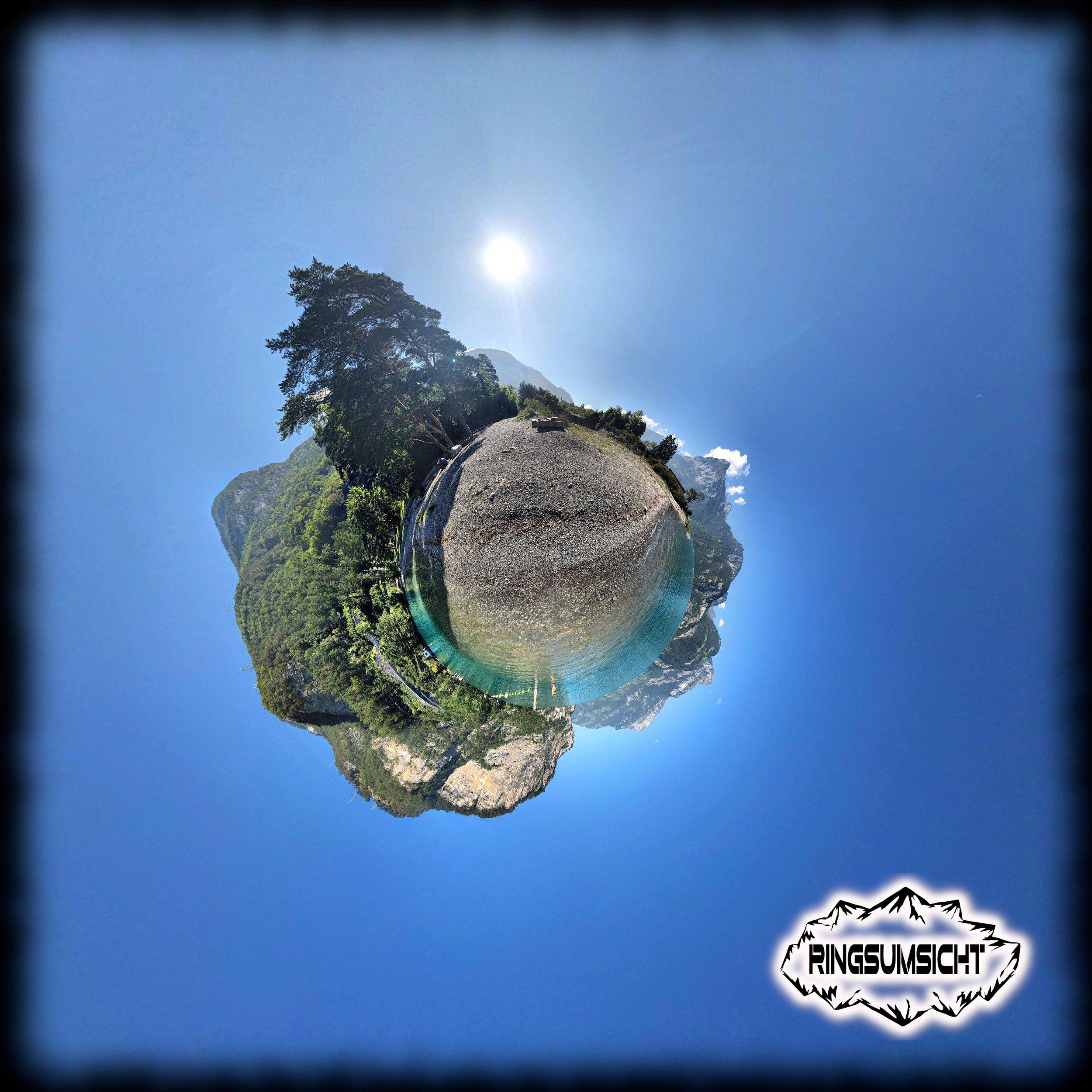 Gruonbach tiny planet 360° Bild