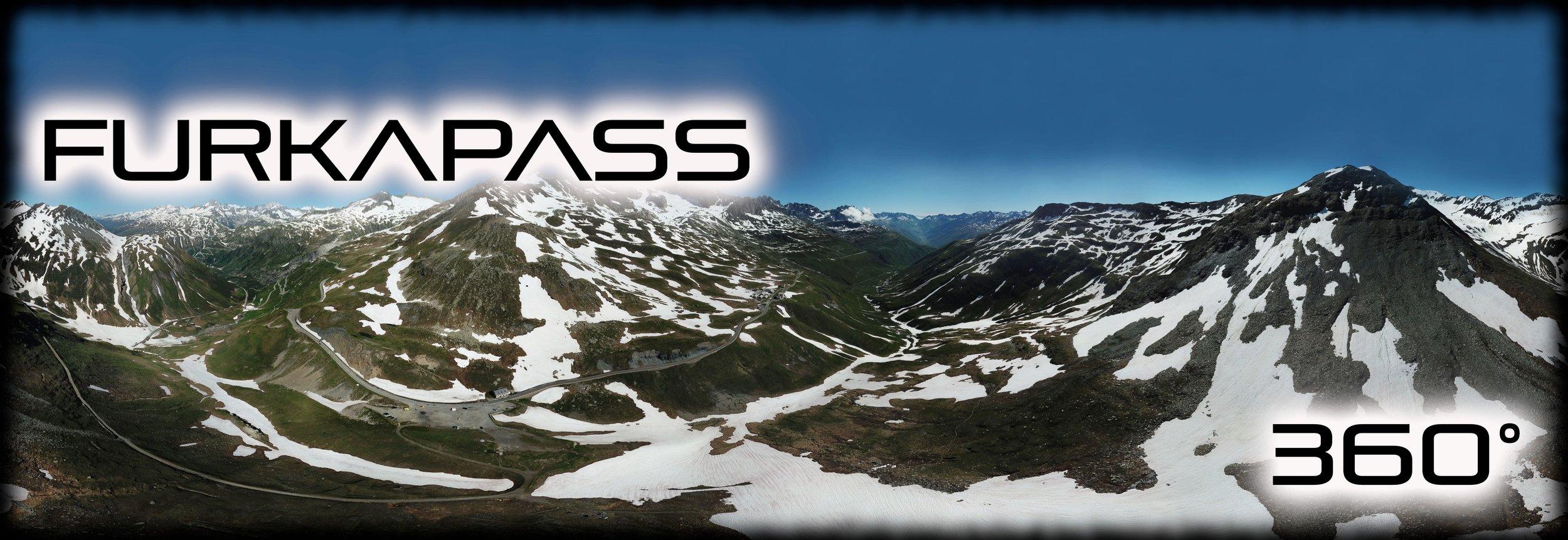 Furkapass 360° Ansicht aus der Luft