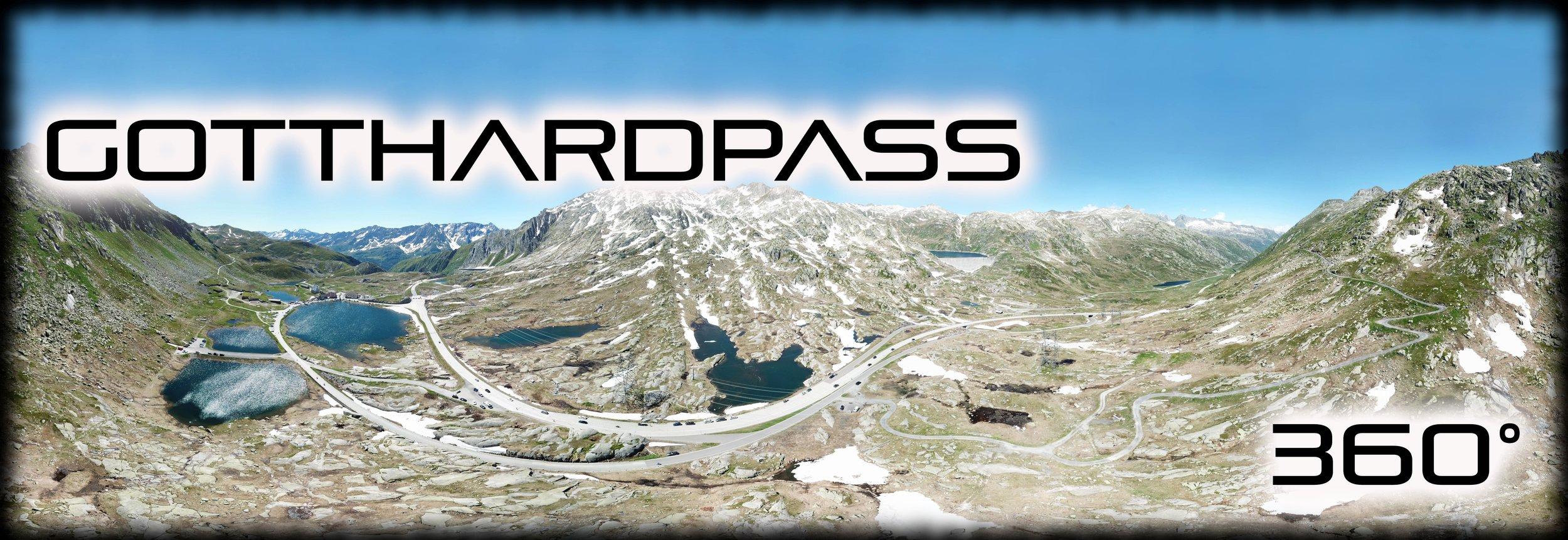 Gotthardpass 360° Aufnahme aus der Luft