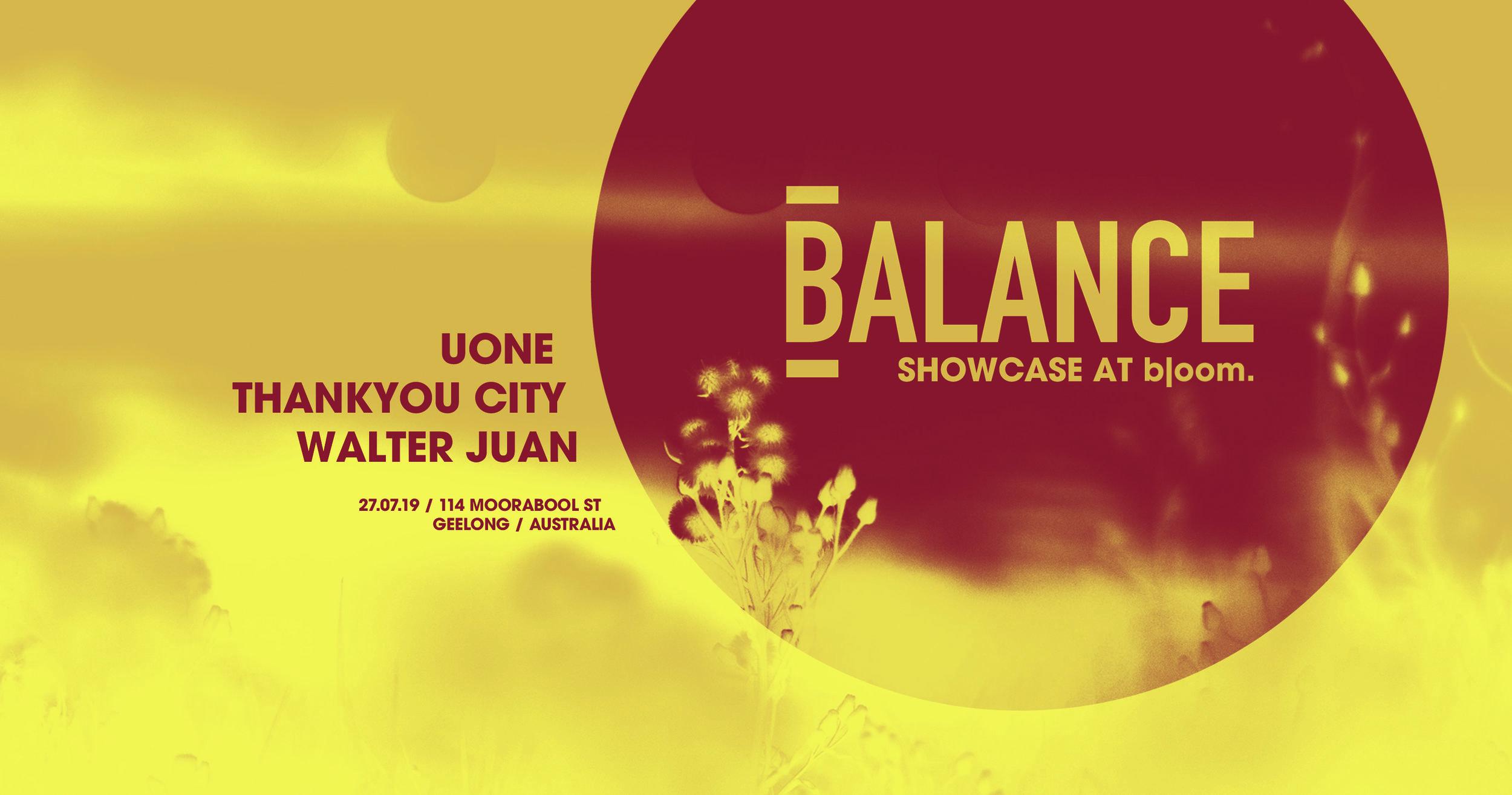 Bloom. - 089 - Balance Showcase - Saturday 27th July, Bloom