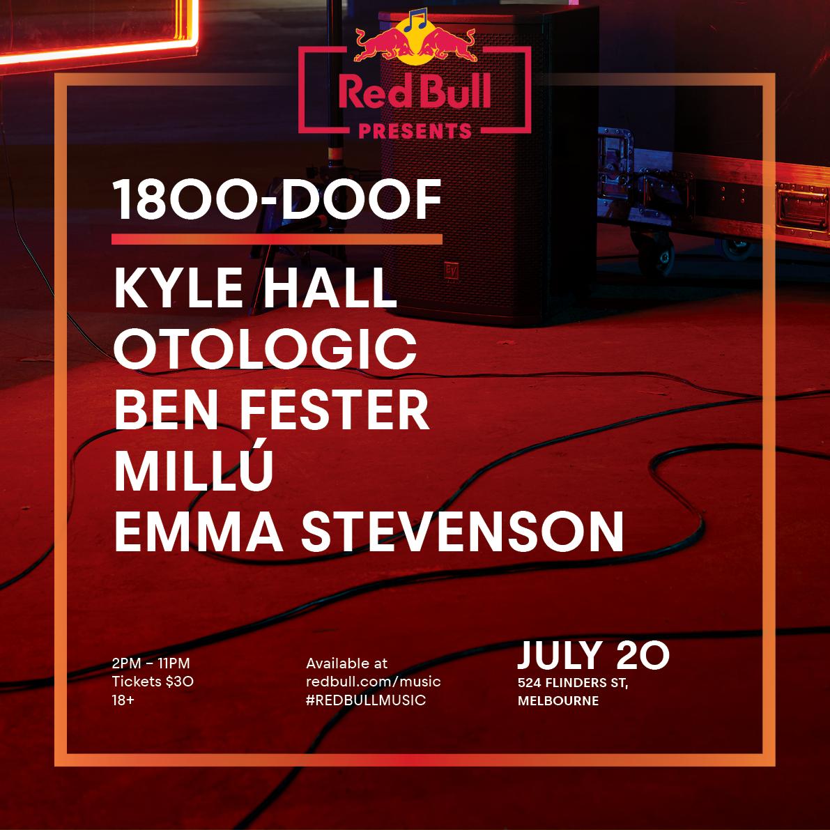Red Bull presents: 1800-Doof - Sat 20th July, 524 Flinders