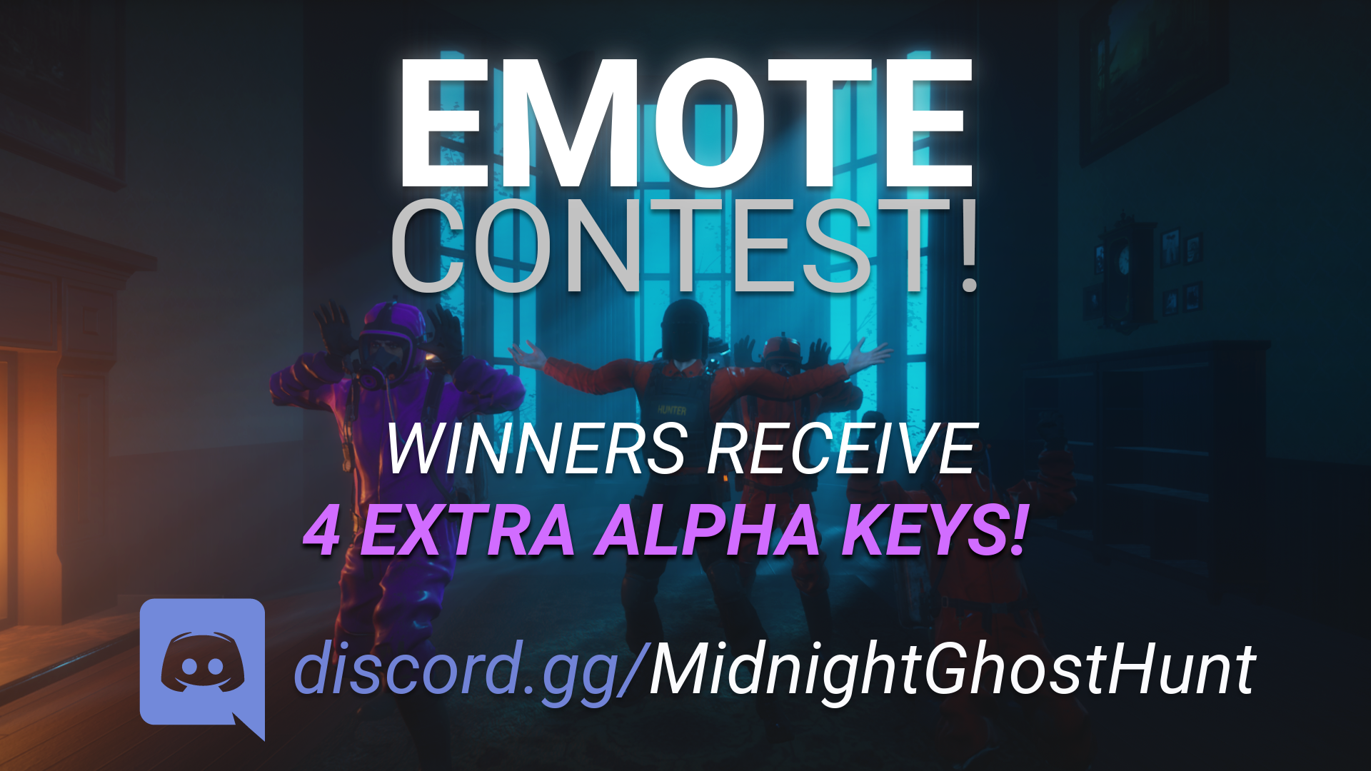 If your emote is one of our selected winners, you will win 4 beta keys!