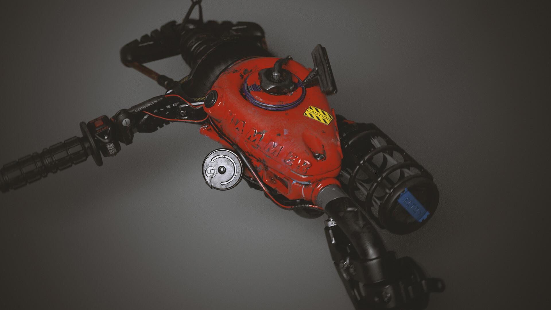 Part lawn mower, part motorcycle, part vacuum cleaner, part deadly laser cannon - 100% dangerous!