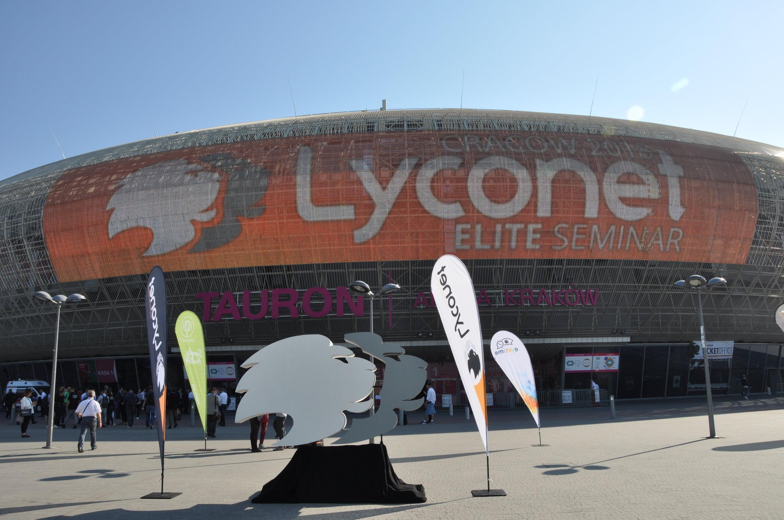 Outside Tauron Arena
