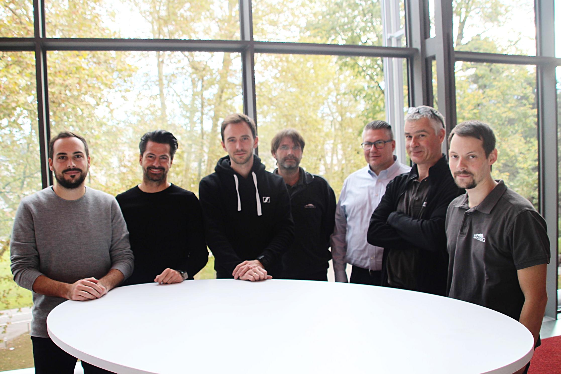 Andreas Scharf (auXala), Robert Hild (Salzburg Congress), Philipp Trojan (Centron), Werner Schnattinger, Silvio Wolf, Renato Vanzini, Thomas Steiglechner (Salzburg Congress)