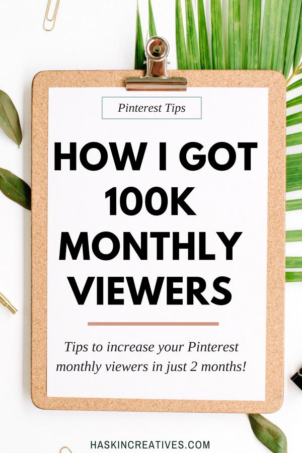 Get your monthly viewers to 100k