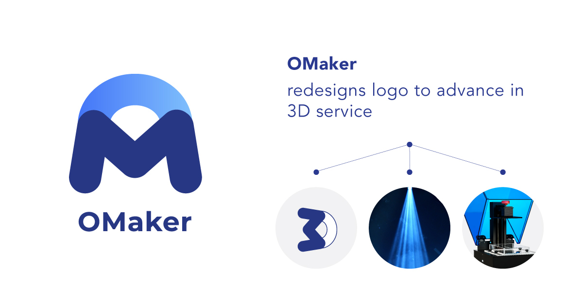 OMaker redesigns logo to advance in 3D service