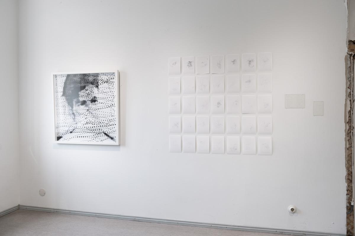 Left:  Dead Spots, 2012 by Eeva Hannula   Right:  Silence (7.10–17.11. 2014), 2014 by Noora Sandgren  Photo: © Heli Kaskinen