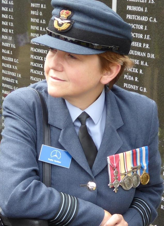Former Wing Commander Sophy Gardner. Personal photo supplied by Sophy Gardner
