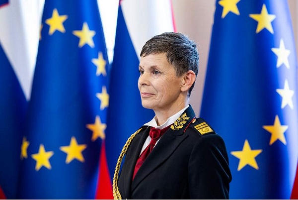Slovenia's Major General Alenka Ermenc, the first female armed forces chief in a NATO country