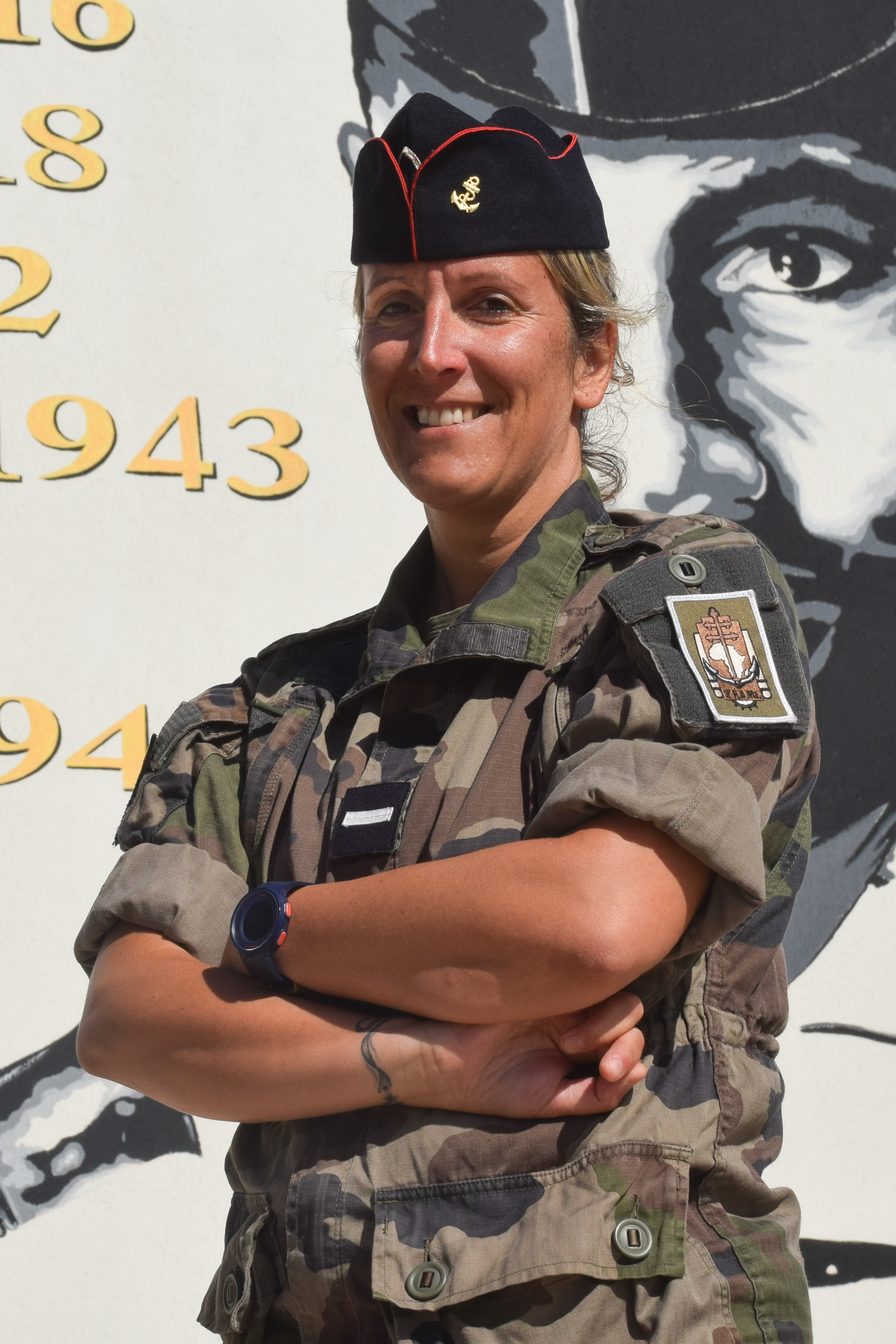 Warrant Officer Erika (last name withheld for security reasons). Photo credit: Ministry of the Armed Forces