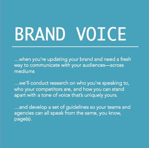 Copy of Brand voice