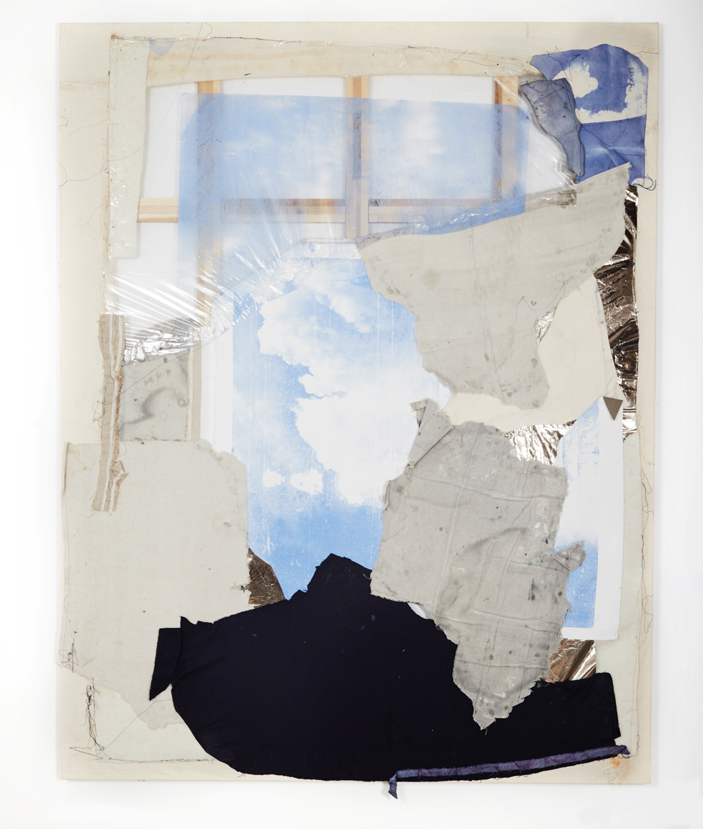 Sam Holt_'Seeing it all now, I'd never have imagined it back then'_2019_Acyrlic, canvas, window tinting and fabric_217x170cm_.jpg
