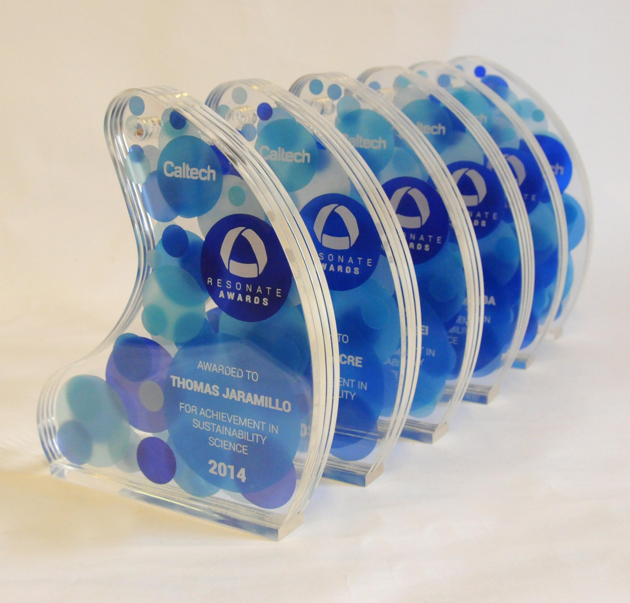 Caltech Award Trophies 2014 - 2018
