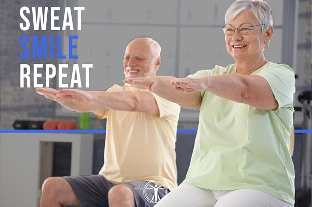 Sweat. Smile. Repeat. Let's make it a great week! ⠀ ⠀ .⠀ .⠀ .⠀ .⠀ .⠀ .⠀ #ozarkfitness #getfit #fitfam #fitness #motivation #monday #qotd