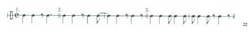 Bossa Nova Rhythm Example