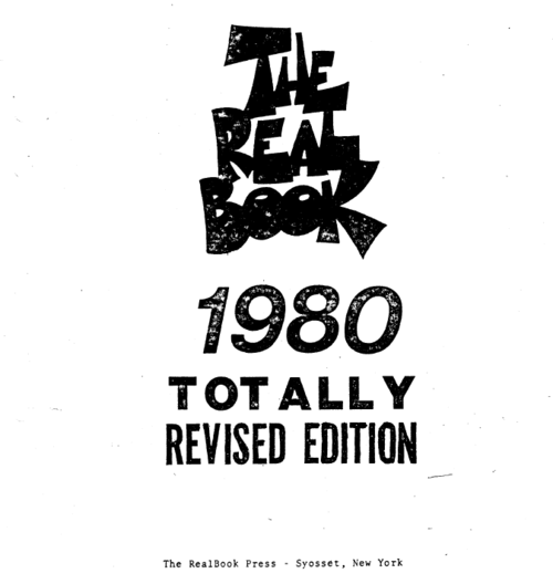 The Real Book 1980 Totally Revised Edition
